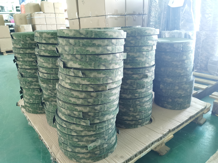 Shipment of a-tacs-fg camouflage webbing